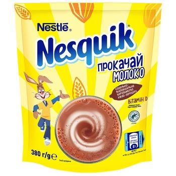 Какао-напій NESTLÉ® NESQUIK® OPTI-START швидкорозчинний 380г - купити, ціни на CітіМаркет - фото 1