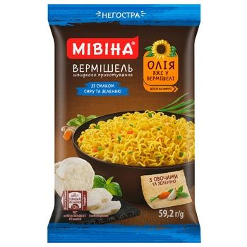 Mivina Instant Vermicelli with Taste of Cheese and Herbs Soft  59,2g