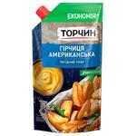 Горчица ТОРЧИН® Американская мягкий вкус 230г - купить, цены на Ашан - фото 1
