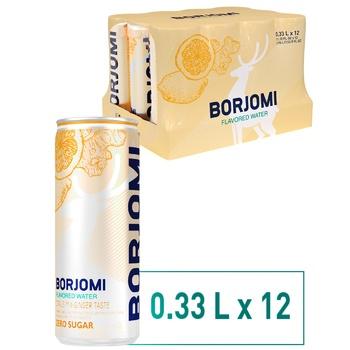 Вода Borjomi минеральная газированная со вкусом цитрус-имбирь 0,33л