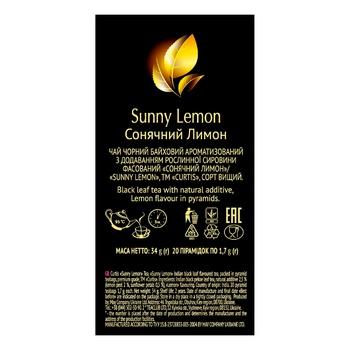 Чай черный Curtis Sunny Lemon в пирамидках 20шт*1,7г - купить, цены на Ашан - фото 3