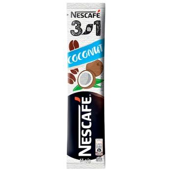 Напиток кофейный NESCAFÉ® 3-в-1 Coconut со вкусом кокоса растворимый стик 13г