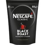 Кофе NESCAFÉ® Classic Black Roast растворимый  гранулированный 55г - купить, цены на Ашан - фото 1