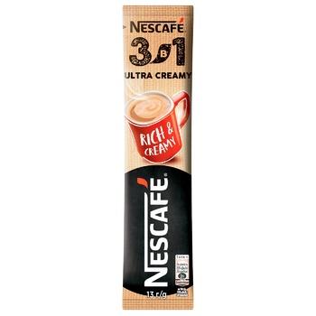 Напиток кофейный NESCAFÉ® 3-в-1 Ultra Creamy растворимый стик 13г