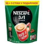 Напій кавовий NESCAFÉ® 3-в-1 Turbo розчинний у стіках 53шт х 13г