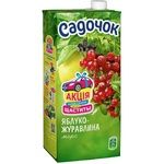 Sadochok Apple and Cranberry Fruit Juice 0,95l