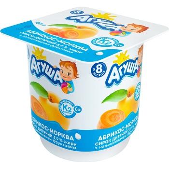 Творожок Агуша абрикос-морковь для детей с 8 месяцев 3,9% 100г - купить, цены на СитиМаркет - фото 1