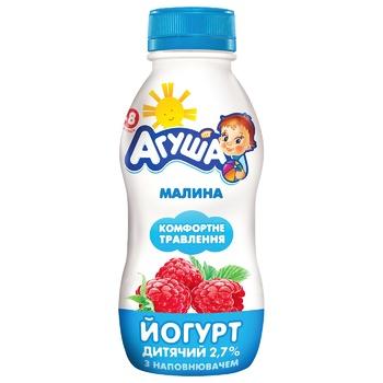 Йогурт Агуша питьевой малина 2,7% 200г