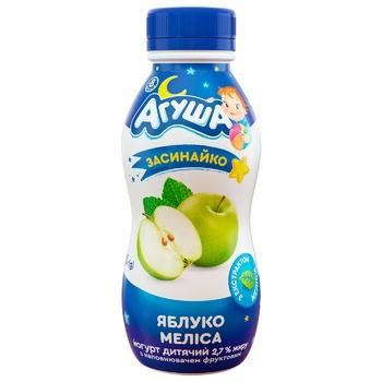 Йогурт Агуша Засыпайка яблоко-мелисса для детей с 8 месяцев 2,7% 200г - купить, цены на ЕКО Маркет - фото 1