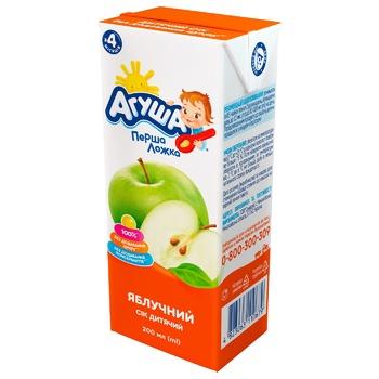 Сок Агуша яблочный без сахара для детей с 4 месяцев 200мл - купить, цены на СитиМаркет - фото 1