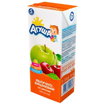 Agusha For Children From 5 Months Apples And Cherry Juice 200ml - buy, prices for CityMarket - photo 1