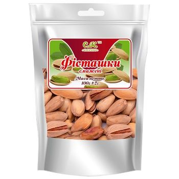 Nuts pistachio Smachno fried 100g Ukraine - buy, prices for CityMarket - photo 1