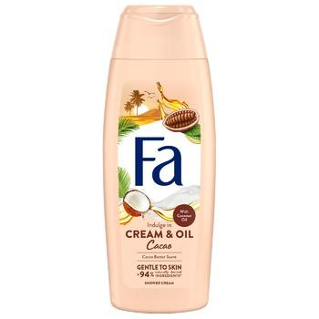 Гель для душа Fa Сream & Oil с маслом кокоса и ароматом масла какао 250мл