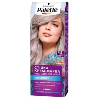 Крем-краска Palette Интенсивный цвет 10-19 Холодный серебристый блонд