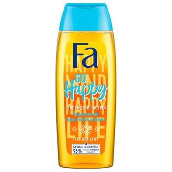 Гель для душа Fa Создай свое настроение Go Happy с фруктовым ароматом 250мл