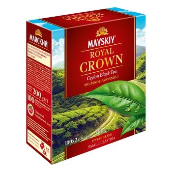Чай черный Майский Царская Корона в пакетиках 100шт*2г - купить, цены на Ашан - фото 5