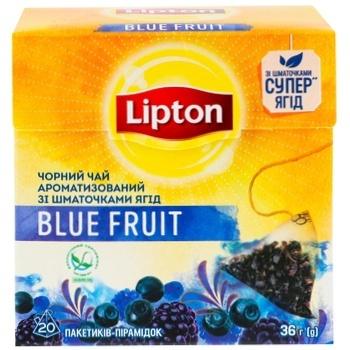 Lipton Blue Fruit Black Tea in Pyramids 20pcs*1,8g - buy, prices for MegaMarket - photo 4