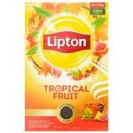 Чай черный Lipton Tropical Fruit листовой с кусочками фруктов и лепестками цветов 80г