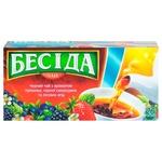 Чай Беседа черный с ароматом клубники, черной смородины и лесных ягод 26шт х 1.8г