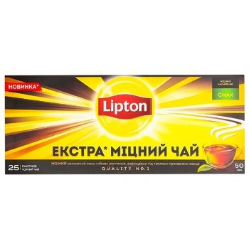 Lipton strong black tea 25pcs*2g - buy, prices for EKO Market - photo 4