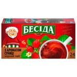 Чай Бесіда чорний з ароматом суниці 36г
