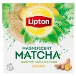 Чай Ліптон Магніфісент Матча зелений з імбиром 18х1.5г - купити, ціни на Ашан - фото 2