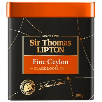 Чай Ліптон Сір Томас Файн Цейлон чорний 100г - купити, ціни на CітіМаркет - фото 3