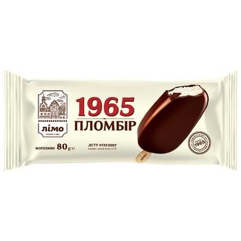 Мороженое Лимо Пломбир 1965 эскимо в шоколадной глазури 80г