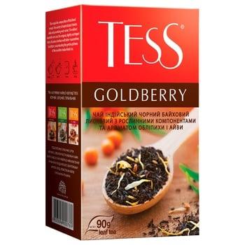 Чай чорний Tess Goldberry 90г - купити, ціни на УльтраМаркет - фото 2