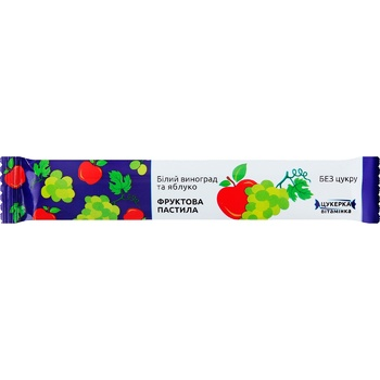Пастила фруктовая Белый Виноград и яблоко 15г - купить, цены на Ашан - фото 1