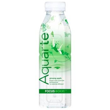 Напій негазований Aquarte Фокус яблуко з екстрактом женьшеню 0,5л
