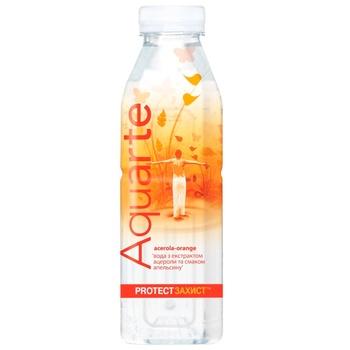 Напиток негазированный Aquarte Защита апельсин с экстрактом ацеролы 0,5л - купить, цены на Космос - фото 1