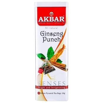 Чай травяной Akbar Ginseng punch 15шт 30г