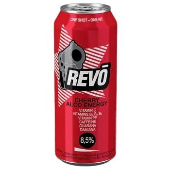 Revo Cherry Alco Energy Low-Alcoholic Energy Drink Can 8,5% 0,5l