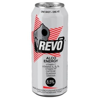 Revo Energy alcohol drink carbonated 9% 0,5l