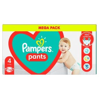 Подгузники-трусики Pampers Pants Размер 4 9-15кг 108шт
