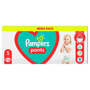 Pampers Pants Size 5 Diapers (12-17kg) 96pcs - buy, prices for Novus - photo 4