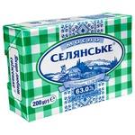 Масло Селянське Бутербродне солодковершкове 63% 200г