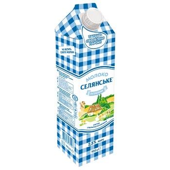 Молоко Селянське Особенное ультрапастеризованное 2,5% 950г