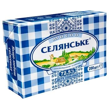 Selianske Creamy-Sweet Butter 72,5% 200g - buy, prices for Auchan - photo 1