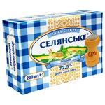 Масло Селянське сладкосливочное соленое 72,5% 200г