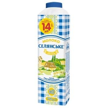 Молоко Селянське пастеризоване 2,5% 950г