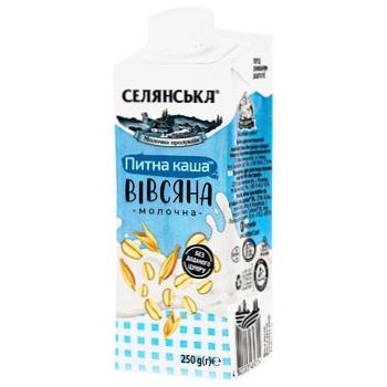 Selyanska Ultrapasteurized Drinking Oat Milk Porridge 2,5% 250g - buy, prices for CityMarket - photo 1
