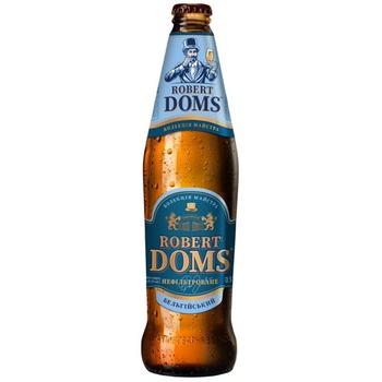 Пиво Львовское Robert Doms Бельгийский светлое нефильтрованное 4,3% 0,5л
