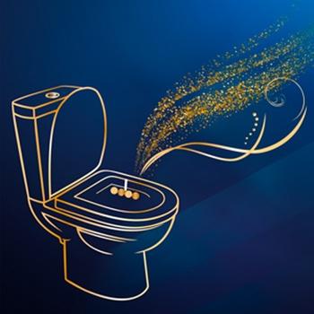 Блок туалетний Bref Делюкс Moonflower 2*50г - купити, ціни на ЕКО Маркет - фото 8