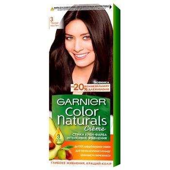 Краска для волос Garnier Color Naturals с 3-мя маслами №3 Темный каштан