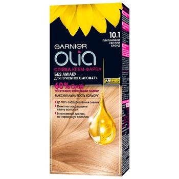 Garnier Olia Cream Without Ammonia 10.1 Bright Platinum Blonde Hair Dye 112ml - buy, prices for CityMarket - photo 1