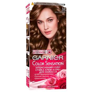 Garnier Color Sensation 5.0 Light Chestnut Hair Color - buy, prices for CityMarket - photo 4