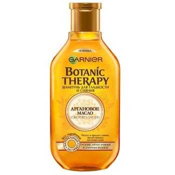 Шампунь Garnier Botanic Therapy аргановое масло и экстракт камелии для тусклых непослушных и длинных волос 250мл - купить, цены на МегаМаркет - фото 1