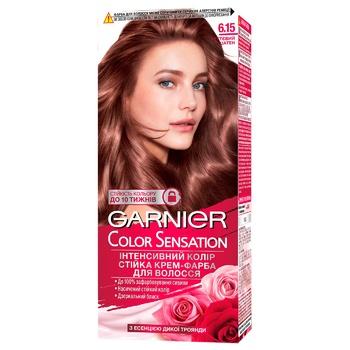 Garnier Color Sensation 6.15 Brown Hair Color - buy, prices for CityMarket - photo 1